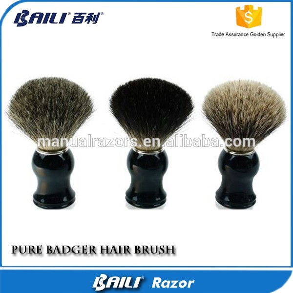 Classic shaving brush with pure badger hair for beard shave