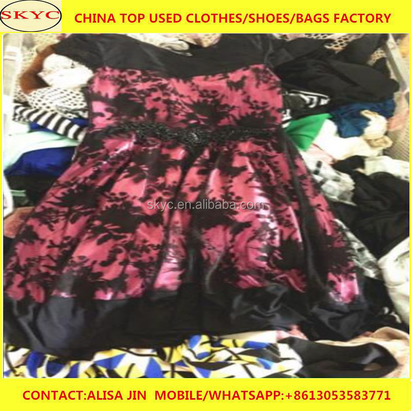 hot sale Dongguan factory packed used clothes in bales mixed women second hand clothing for sale Africa market