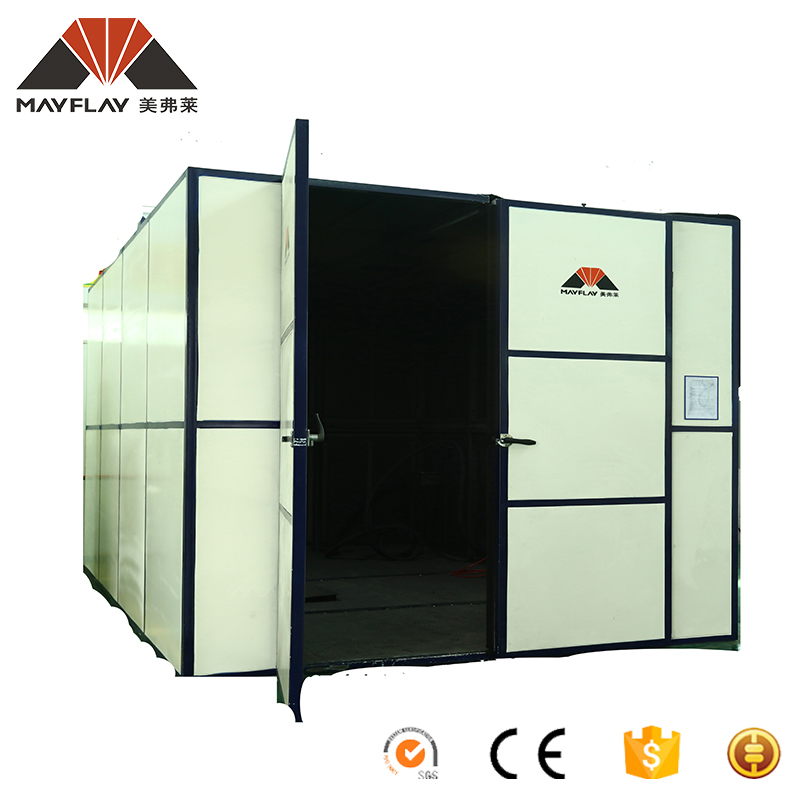 Mayflay Manual Castings Air Sandblasting Booths Blast Cleaning Booth Sand Blasting Room