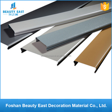Customized building design materials office usage metal ceilings aluminum C-shape linear ceiling