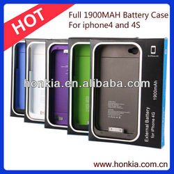 Low Price Full 1900mAh Mobile Phone Battery External Backup Battery Charger for Iphone4/4S