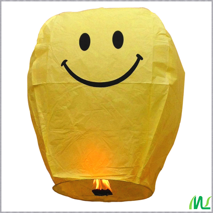 I LOVE U Printed Lighted Flying Sky Lanterns Wholesale