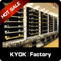 KYOK cheap curtains rods,curtain rods and rings,chrome curtain rod finial