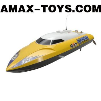 es-1768206 2.4G rc boat 2 Channels Yellow Remote Control Speed Boat