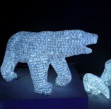 led polar bear christmas outdoor lighted decorations