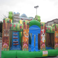 animals inflatable bouncy slide