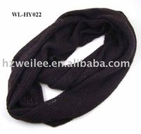 WL-HY022 Fashion knitted purple loop scarf muffler for winter