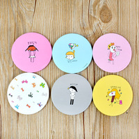 Fashion Cartoon Small Woman Cosmetic Portable Round Mirror