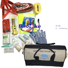 Customized design all purpose car emergency kit for vehicles with road safety products