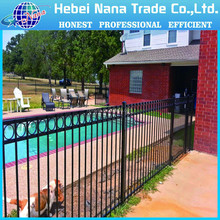 Made in China short metal garden fence / PVC coated metal small garden fencing/short metal garden fence