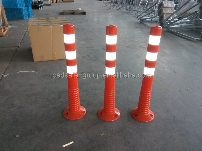 75cm/80cm flexible spring post road delineators plastic warning bollard