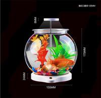 SUNSUN Coffee table aquarium led light mini acrylic USB fish tank for sale ATS-180