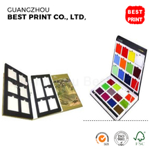 Custom size die cut book for display granite sample folded leaflet hardcover book printing