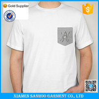 OEM Service Summer Casual Cheap Printed Pocket Tshirt In Different Color