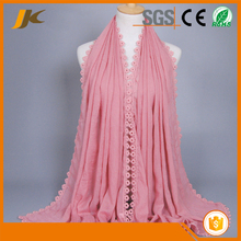 Autumn Spring New Style Lace Design Tassel Cotton Sexy Long Lace Hijab Scarf