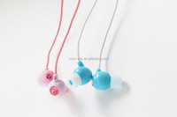 cheap coloful computer wired earphone earbud for children
