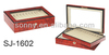 High glossy wooden box for pen with glass top