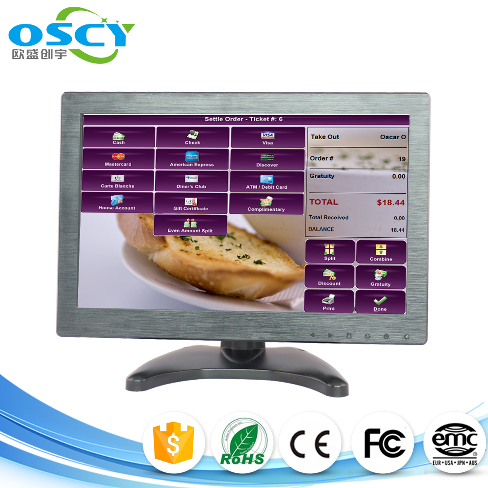 1366*768 High Resolution 12 inch Wide screen HDMI monitor, Desktop lcd Monitor