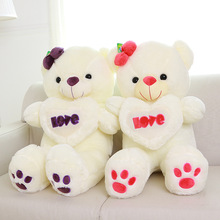 Hot selling best made soft small plush heart teddy bear for kids toys with low MOQ