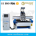 high speed 1325 3d 3 heads cutting cnc router