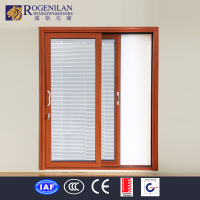 ROGENILAN aluminium pulling sliding glass door runners double glass door