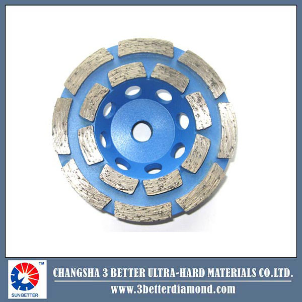 80mm diamond wet grinding cup wheel for general Masonry Material stone concrete Caking Disc