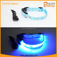 cervical collar Hot LED USB Rechargeable Dog collar PET3100U Led Det Collar