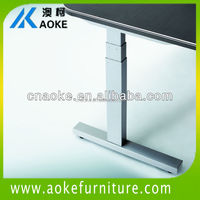 three section metal adjustable height table legs