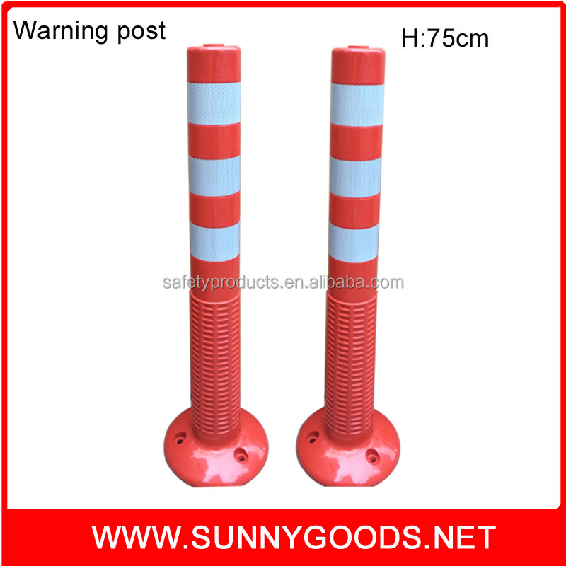 road traffic control PU material flexible spring reflective delineator post