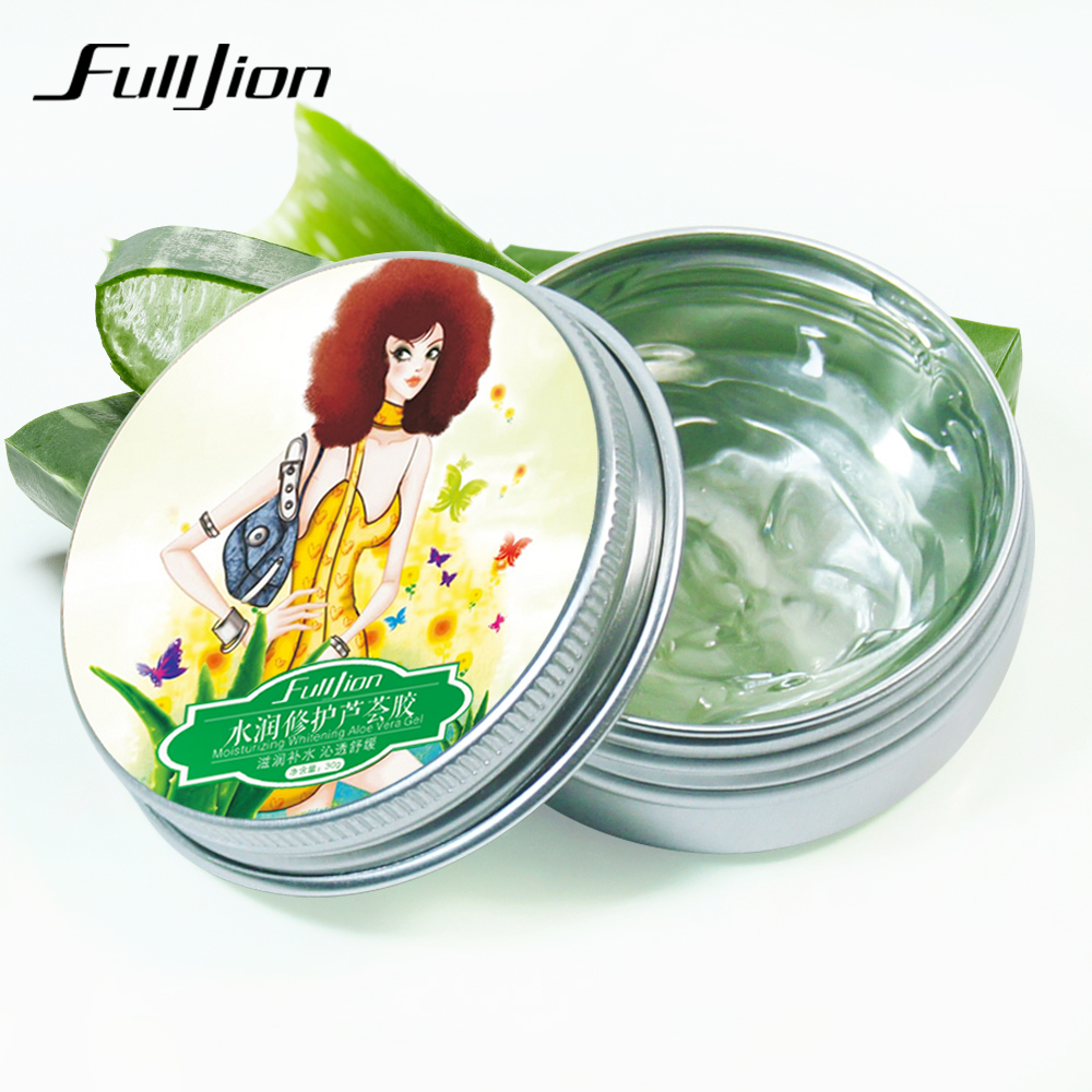 Fulljion Natural Concentrated Aloe Vera Gel Cream Whitening Oil Control Moisturizing <strong>Face</strong> Skin Care Cream
