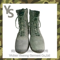 [Wuhan YinSong] New Design Best Quality Good Price For Men Leather Combat Desert Military Boots High Ankle Army Boots Tactical