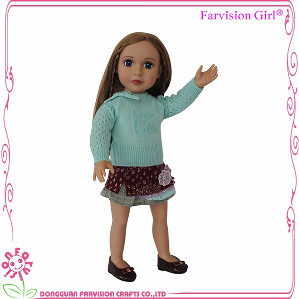 "New Arrival Dolls 18"" American Girl Clothes Floral Skirt Pattern 18 inch Doll Clothes for Sale"