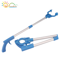 Folding handle grabber extend rubbish trash reaching tool pick up tool claw grabber kitchen liter extend reacher tool