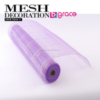 10m Width 100% first uses polypropylene christmas mesh rolls ribbon