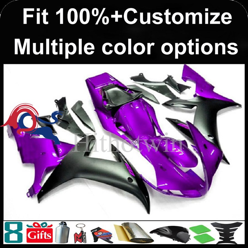 Injection mold purple black motorcycle cowl for Yamaha YZF-<strong>R1</strong> 2002-2003 <strong>02</strong> <strong>03</strong> YZFR1 2002 2003 <strong>02</strong>-<strong>03</strong> ABS Plastic Fairing