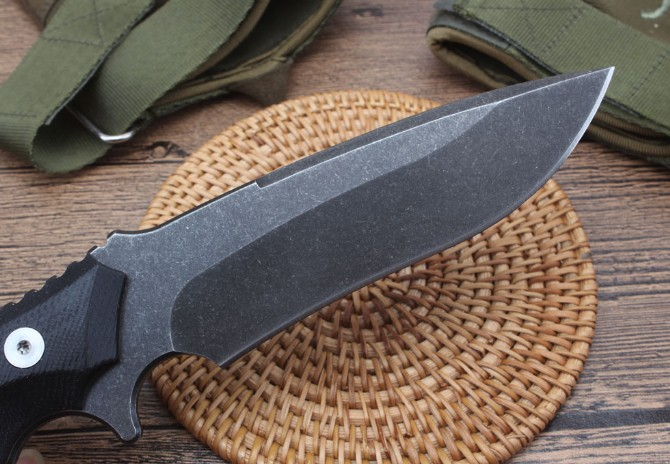 G10 Handle Quality D2 Knife 60HRC Fixed Outdoor Knives with Kydex sheath Tactical Tools Dropshipping 2364