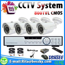 Uniformes de guardias de seguridad, 1000tvl hd camara cctv 4ch dvr kits light interruptores, auto grabador de vídeo