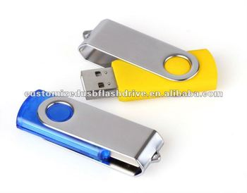 Best selling Promotional gift Metal Swivel usb memory stick MY-U001