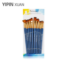 Paint Brush Set Acrylic 12 Pieces Professional Paint Brushes Artist for Watercolor Oil Acrylic Painting, Blue