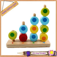 Jieyi safety eco educational wooden baby Stacking Toy
