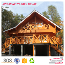Cheap Prefab Log House 2-floor design Wooden Villa 147.6 m2