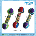 Durable Varied cotton rope dog toys with balls