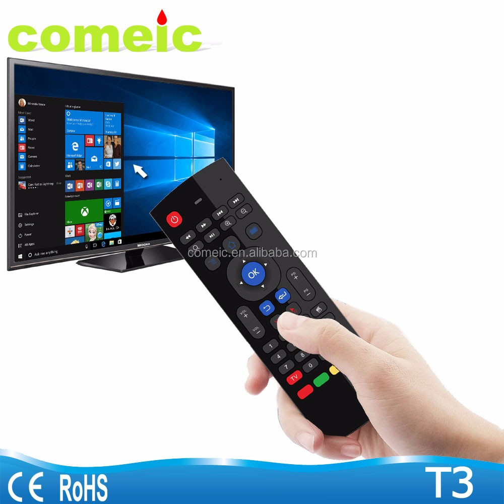 2016 best air mouse ir remote control with IR learning function for TV