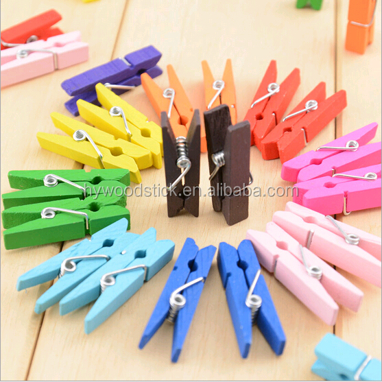 Cheap Promotional Wooden Sticks Dowls Cloth Pins DIY Trade in china
