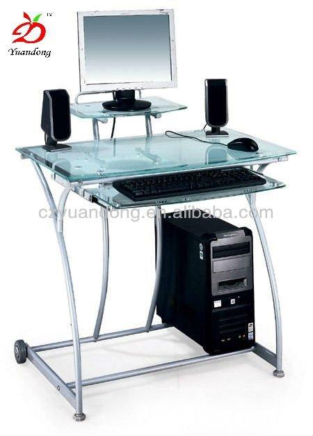 Nuevo dise o de vidrio transparente pc computadora de for Diseno de mesa de computadora