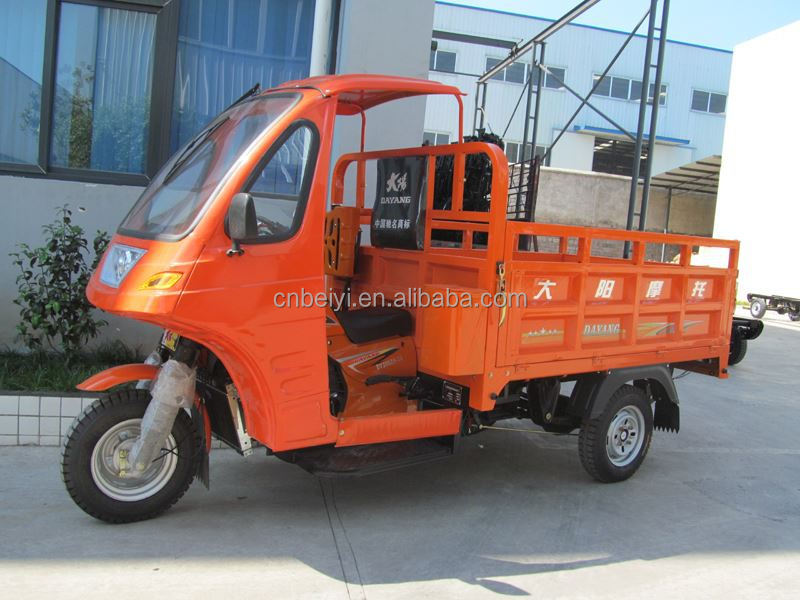 Semi-closed Tricycle 200cc Cargo tricycle adult 3 wheel covered motorcycle with CCC