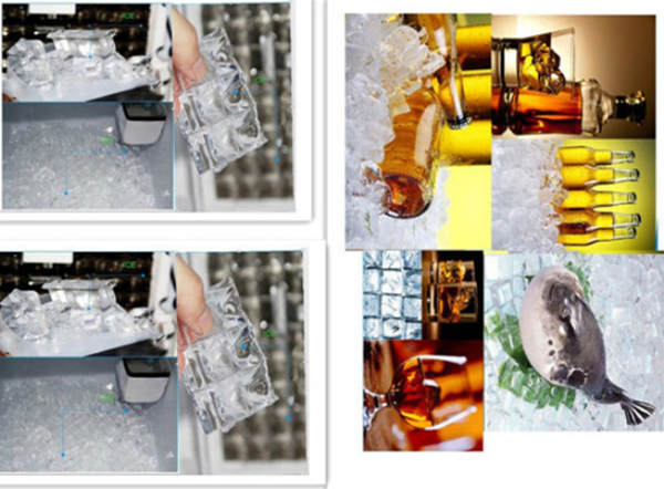 Industrial ice cube making machine