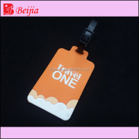 Custom made rubber luggage bag belt strap silicone luggage tag with Buckle And Name Tag
