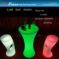 led cylinder bar stool light & commercial plastic stool
