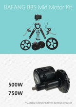 Bafang bbs02 48v 750w bicycle kit with ebike lithium battery